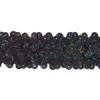 Sequin Stretch 3Row Hologram Black